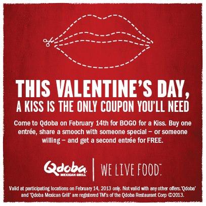 Qdoba Valentine's Day Special