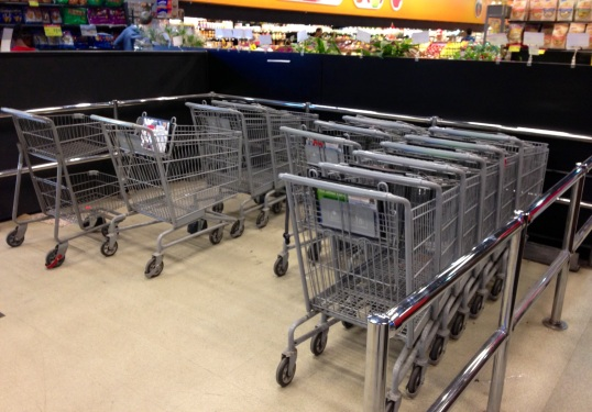 The RIGHT PLACE to put a shopping cart.