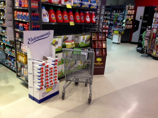 The WRONG PLACE to put a shopping cart.