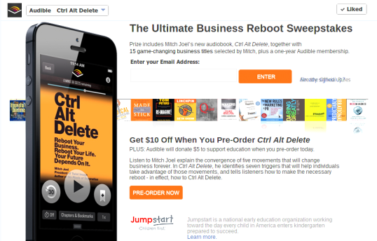 Audible - The Ultimate Business Reboot Sweepstakes