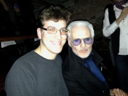 Michael Des Barres and I hanging out before his concert in NYC.