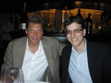 Having dinner with Andrew Gross.