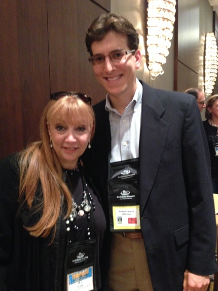 Spending time with M.J. Rose at ThrillerFest VIII.