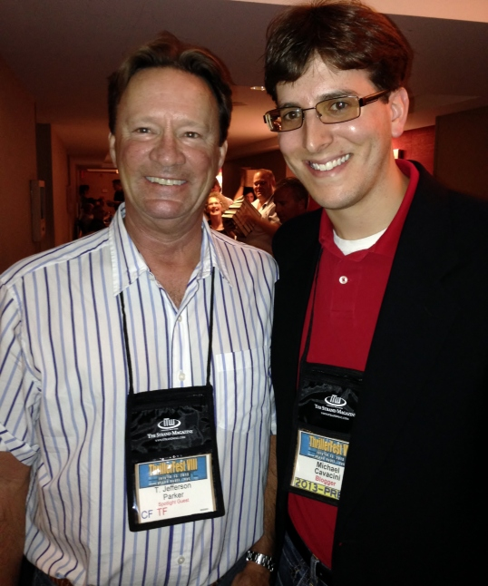 Meeting T. Jefferson Parker at ThrillerFest in 2013.