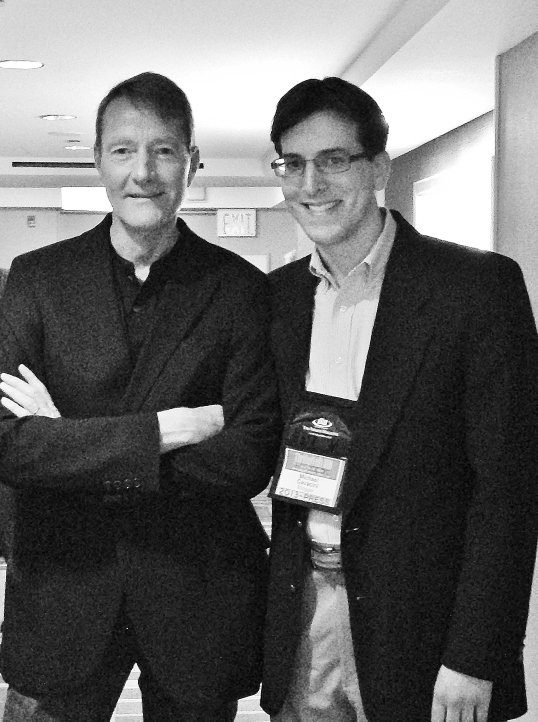 Lee Child and I at ThrillerFest VIII.