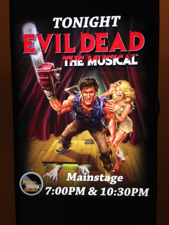Evil Dead: The Musical is at The Prince Music Theater in Philadelphia from September 25-October 20, 2013.