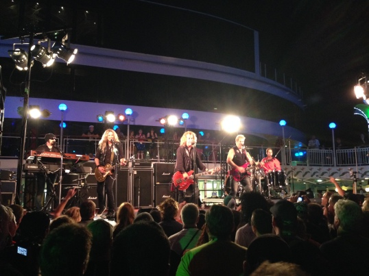 Night Ranger performing on the last night of KISS Kruise III.
