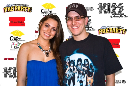 Meeting Sophie Tweed Simmons at The Pre-Party.