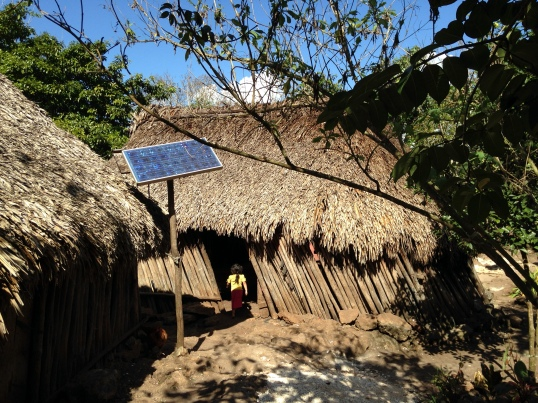 We had the opportunity to visit a Mayan family's home during our tour of Coba.
