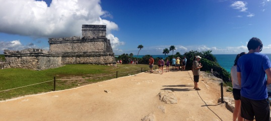 We also visited Tulum where there are Mayan ruins and a beautiful beach.