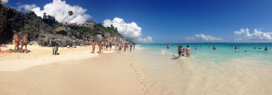 The gorgeous beach in Tulum.