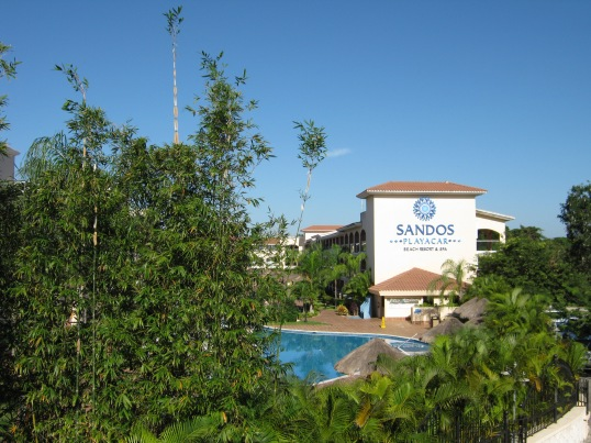 We stayed at Sandos Playacar in Playa del Carmen, Mexico.