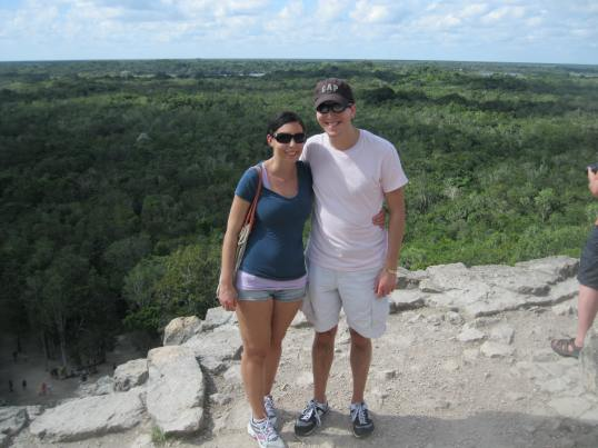 Here we are at the top of the ruin - it may not be obvious but I was frightened to go down.