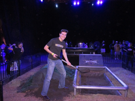 Me, at the burial site of the Undertaker's WrestleMania XXX opponent, or so I thought.