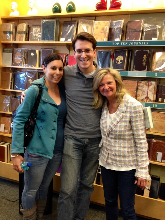 My girlfriend, Stephanie, and I meeting Lisa Scottoline at her book signing for Keep Quiet on April 19.
