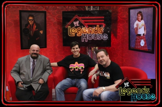 Hanging out with Howard Finkel and Roddy Piper.
