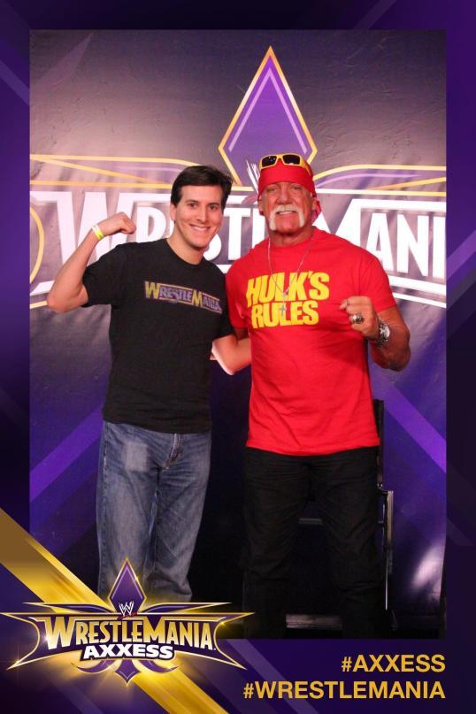 Meeting my childhood hero, Hulk Hogan, was the highlight of my WrestleMania weekend.