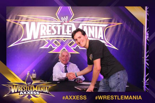 Meeting Ric Flair at WrestleMania Axxess.
