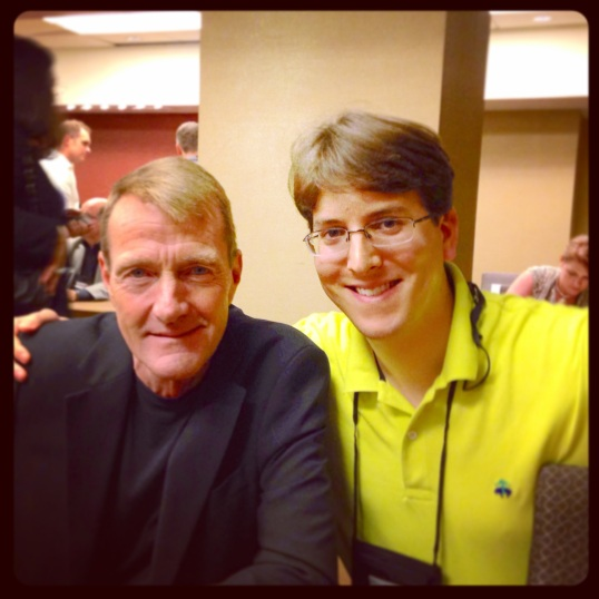 Me with one of my favorite authors: Lee Child.