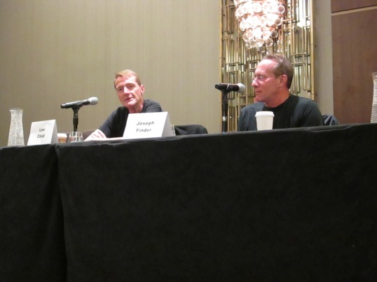 Lee Child & Joseph Finder Talking About Writing Together.