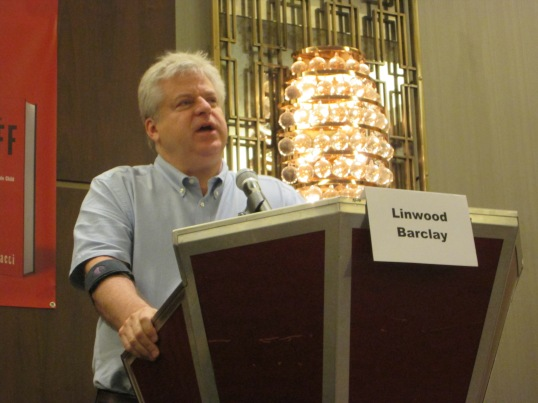 Linwood Barclay going over the editing process.
