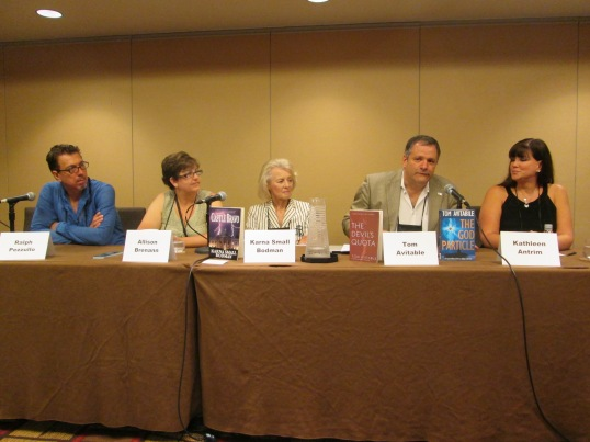A panel discussing politics in thrillers.