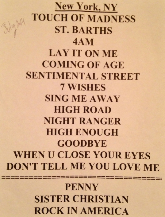 Night Ranger Set List