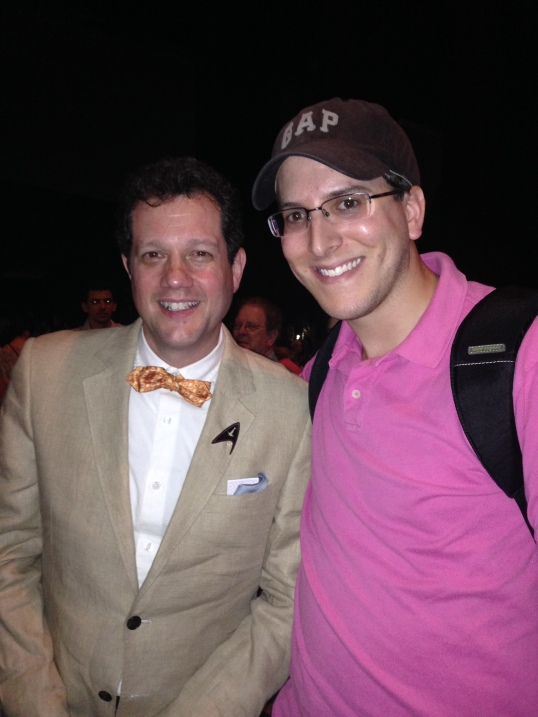 Michael Giacchino and I meeting during intermission.