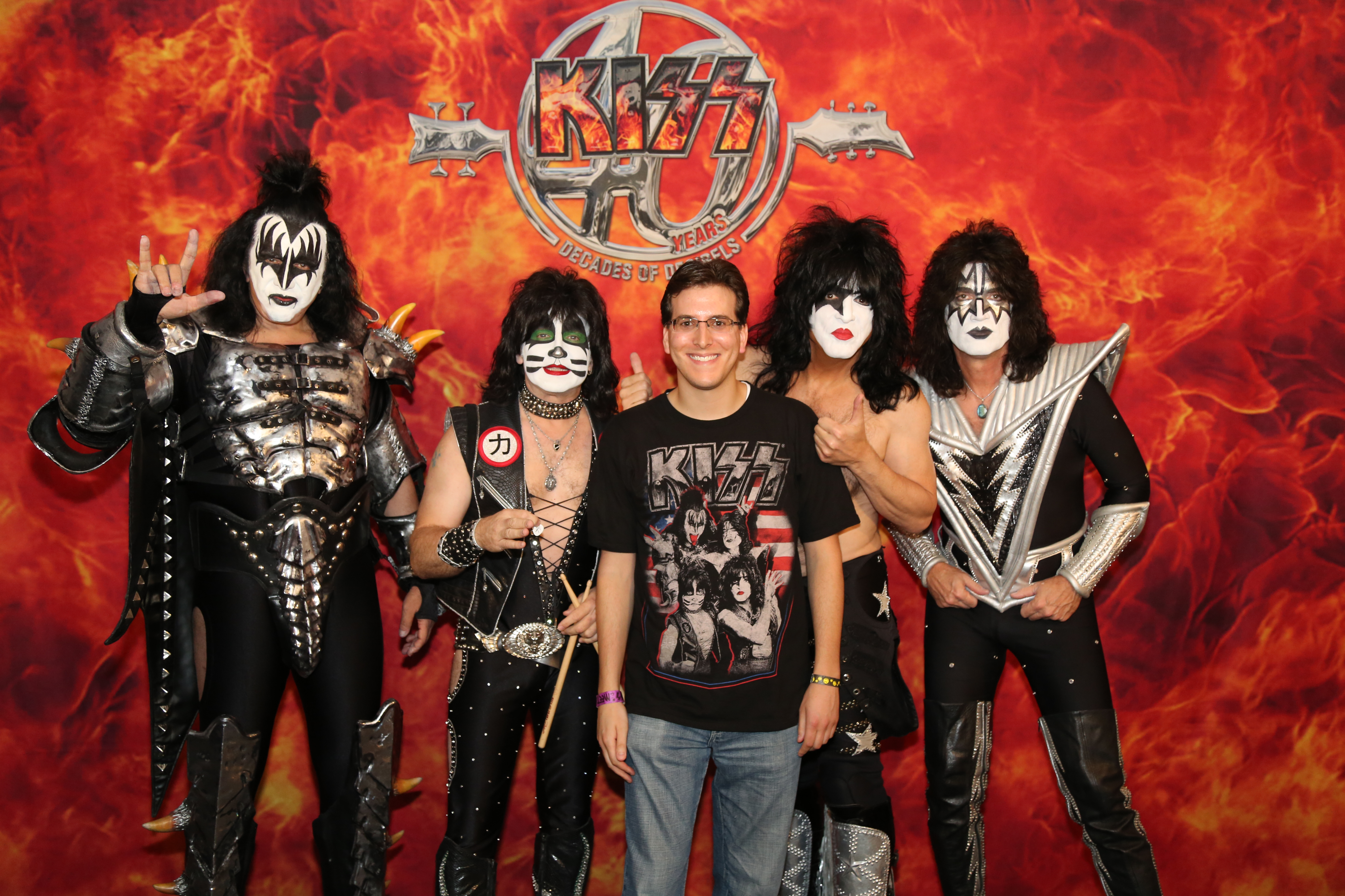 Kiss the best show on earth michael cavacini once i finished getting my photo taken with kiss i lined up with the other photographers to be led into the pit area between the stage and the first row m4hsunfo