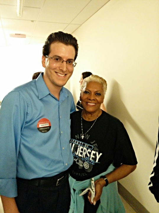 Backstage with Dionne Warwick.
