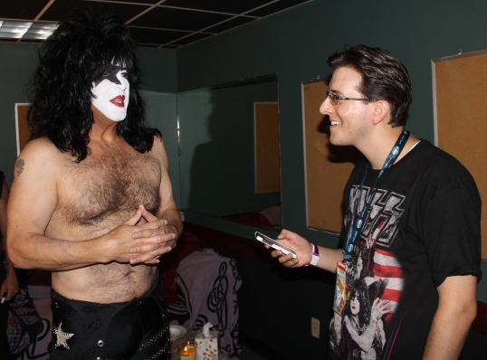 Interviewing Paul Stanley.