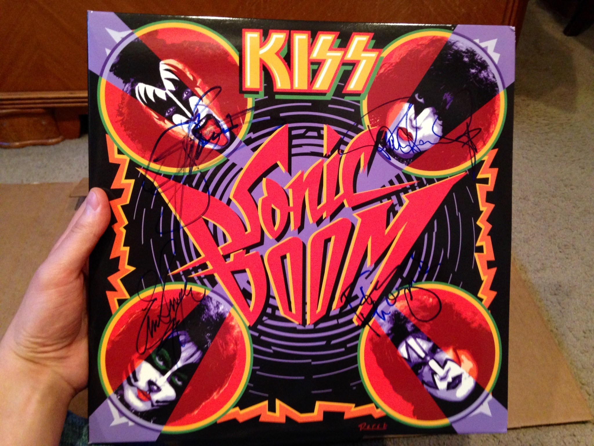 Kiss the best show on earth michael cavacini after the meet and greet with kiss i headed into the venue and hit up the merchandise booth where i got a great three quarter sleeve kiss baseball shirt m4hsunfo