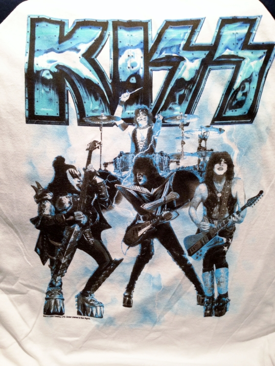 The front of my new KISS baseball shirt.