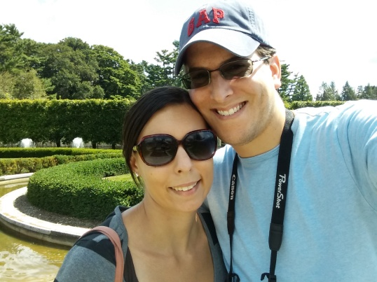 Outdoors at Longwood Gardens with my girlfriend, Stephanie.