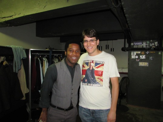 Backstage before the show with Ty Taylor, Vintage Trouble's lead singer