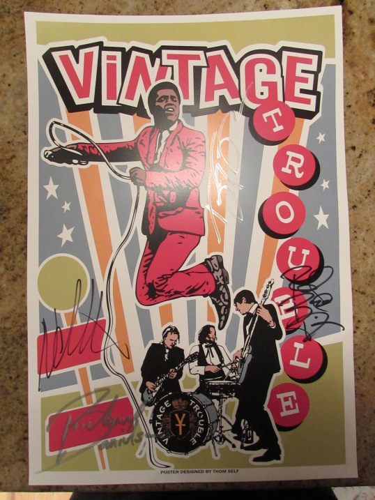 A cool poster I got autographed by the band.