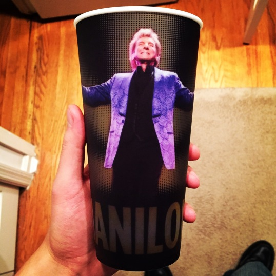 Everyone got a free Barry Manilow cup on their way out.