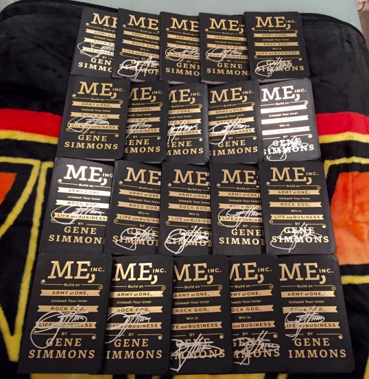 20 autographed copies of Gene Simmons' new book: Me, Inc.