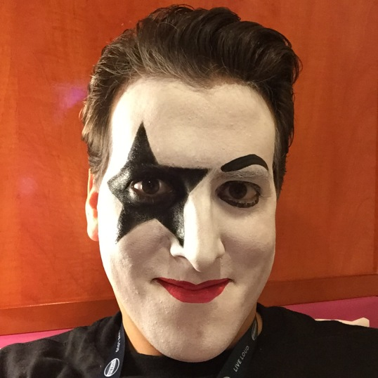 Prior to this kruise I had never had my face painted as a KISS character.
