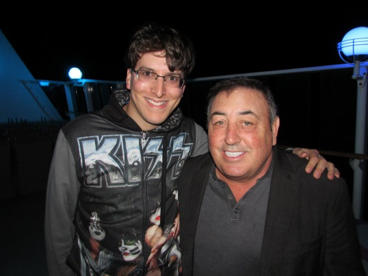 With KISS' manager, Doc McGhee.