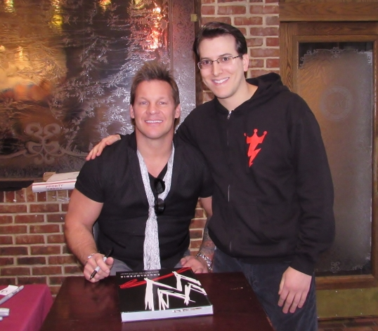 With rock star and wrestling legend Chris Jericho.