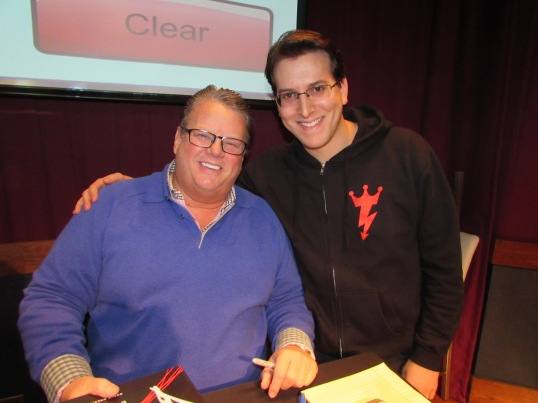 "Meeting Bruce Prichard, best known as ""Brother Love"" and a former WWE executive."