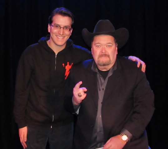 Meeting the greatest play-by-play commentator in professional wrestling history, Jim Ross.