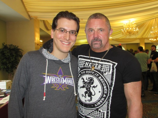 Meeting Jason Voorhees himself: Kane Hodder.