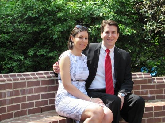 With my girlfriend, Stephanie, before graduation.