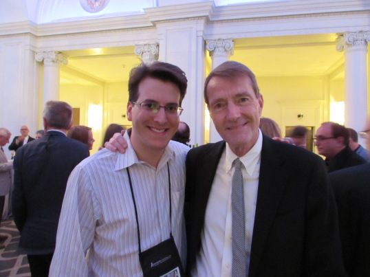 At a cocktail party with the great Lee Child.