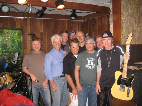In the studio after a 15 Minutes recording session, with Barry an the band.